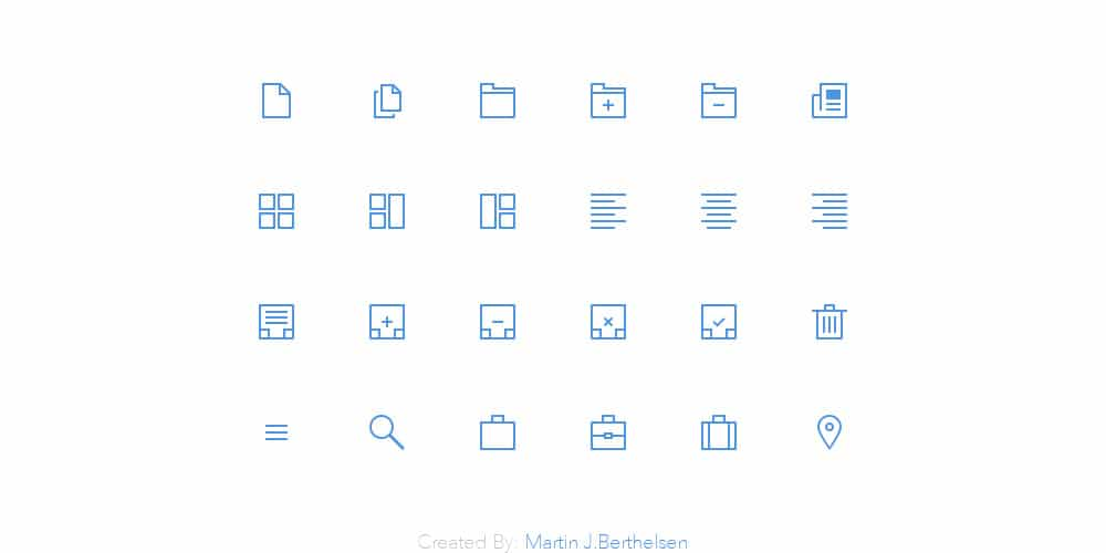 Thin Icons PSD