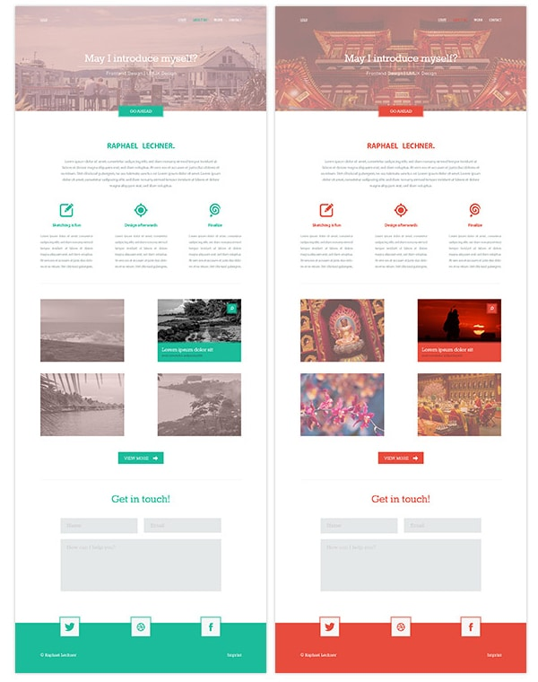 Variety Free PSD website template