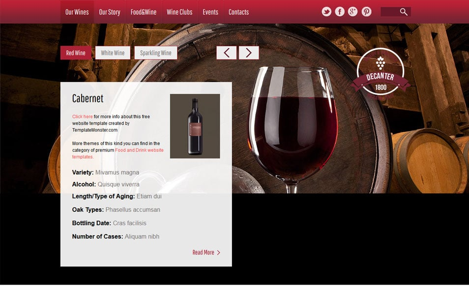 Winery Html5 Theme