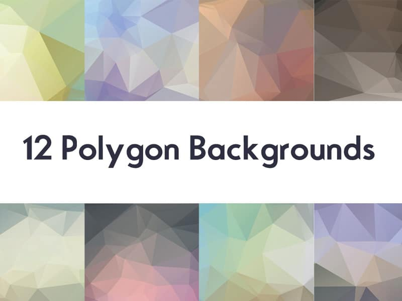 12 Polygon Backgrounds (JPG)