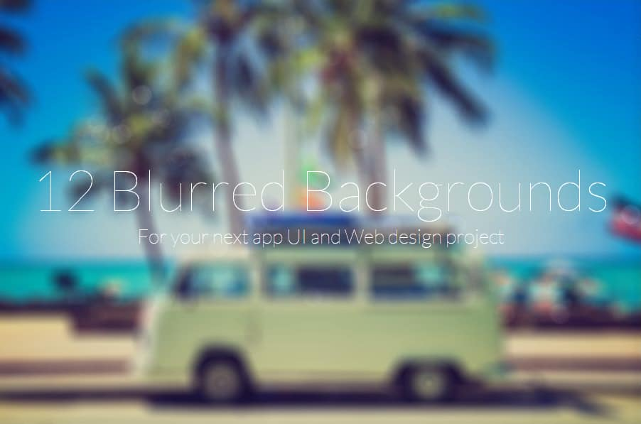 12 free blurred backgrounds
