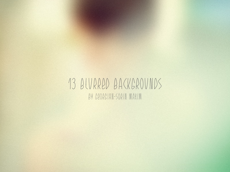 13 Blurred Backgrounds