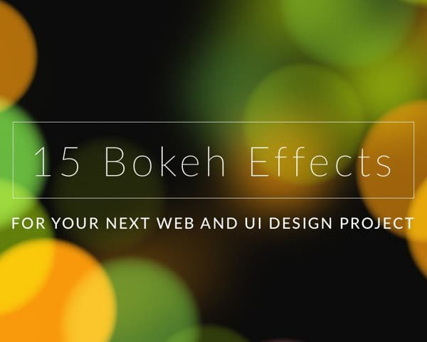 15 Free Bokeh Lens Effects HD Textures