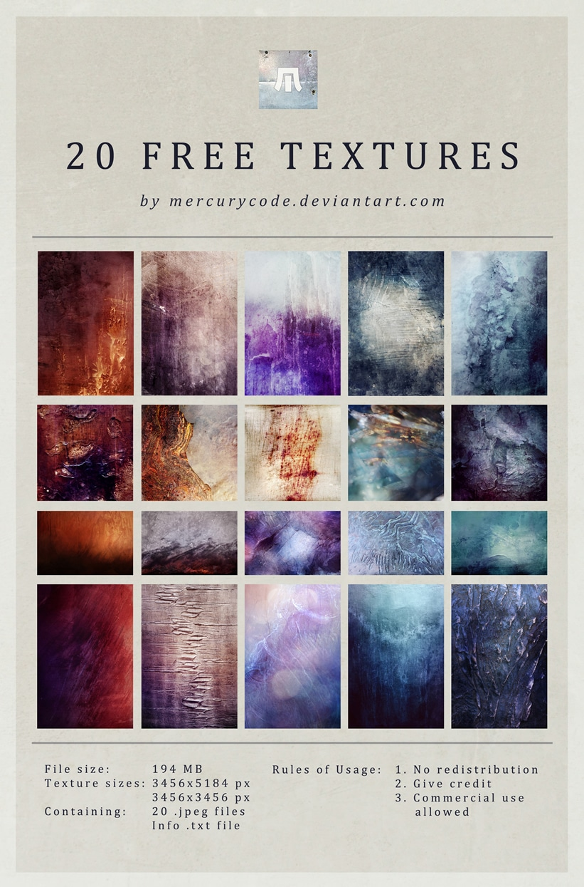 20 High Resolution Textures