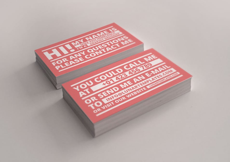 3 Free Business Card Templates