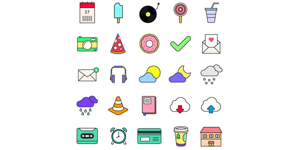 35 Colorful Icons