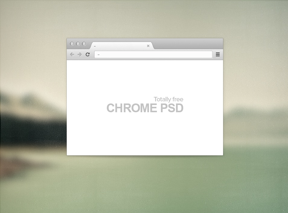 Chrome Browser Free PSD