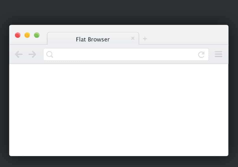 Flat Browser Chrome