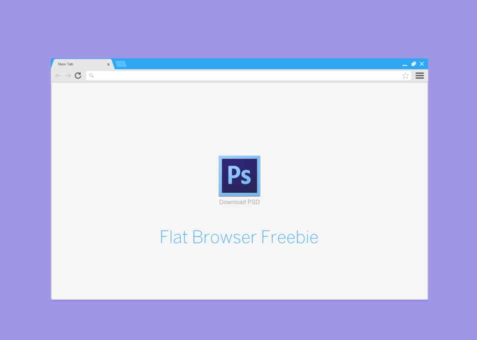 Flat Browser Free PSD