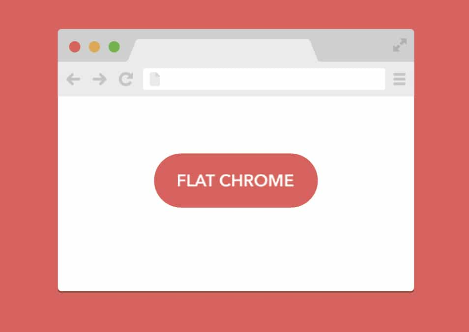 Flat Chrome Browser PSD