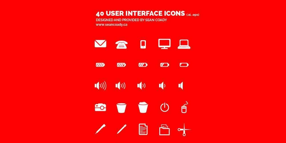 Flat and Solid User Interface Icons