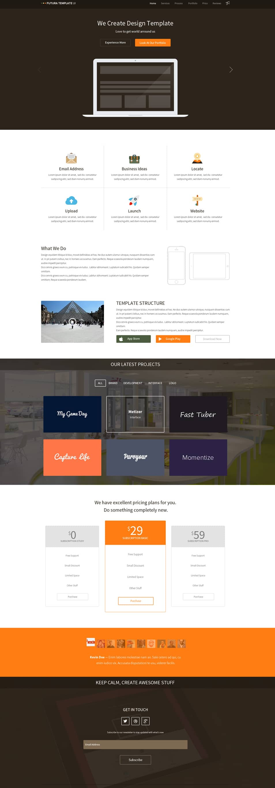Flat multipurpose template PSD