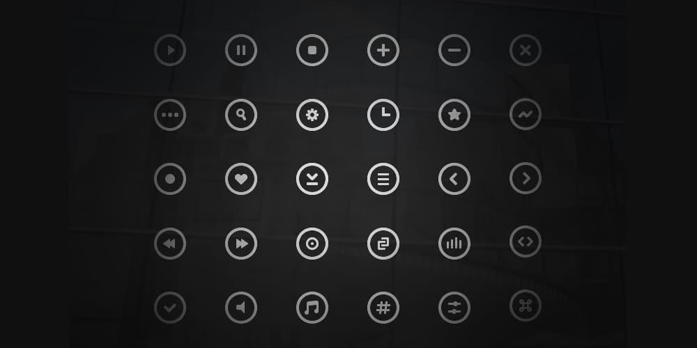 Free Circle Icons PSD