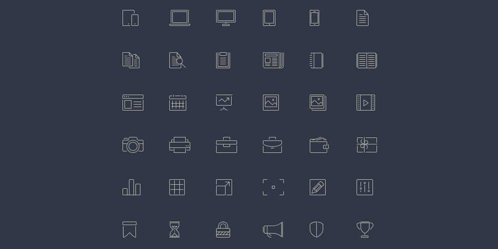Free Line Style Icons
