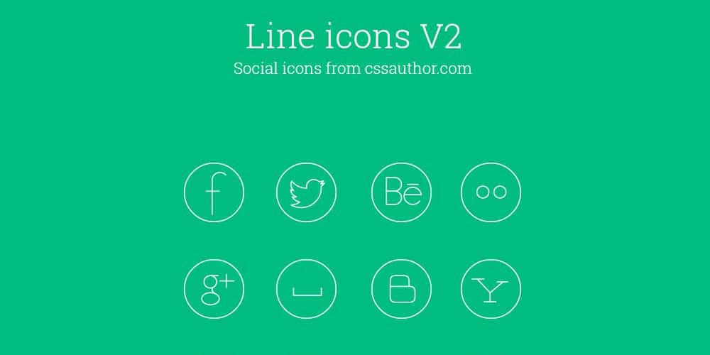 Free Social Media Line Icon Set PSD