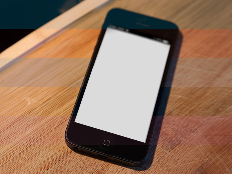 Free iPhone 5 photo mockup PSD