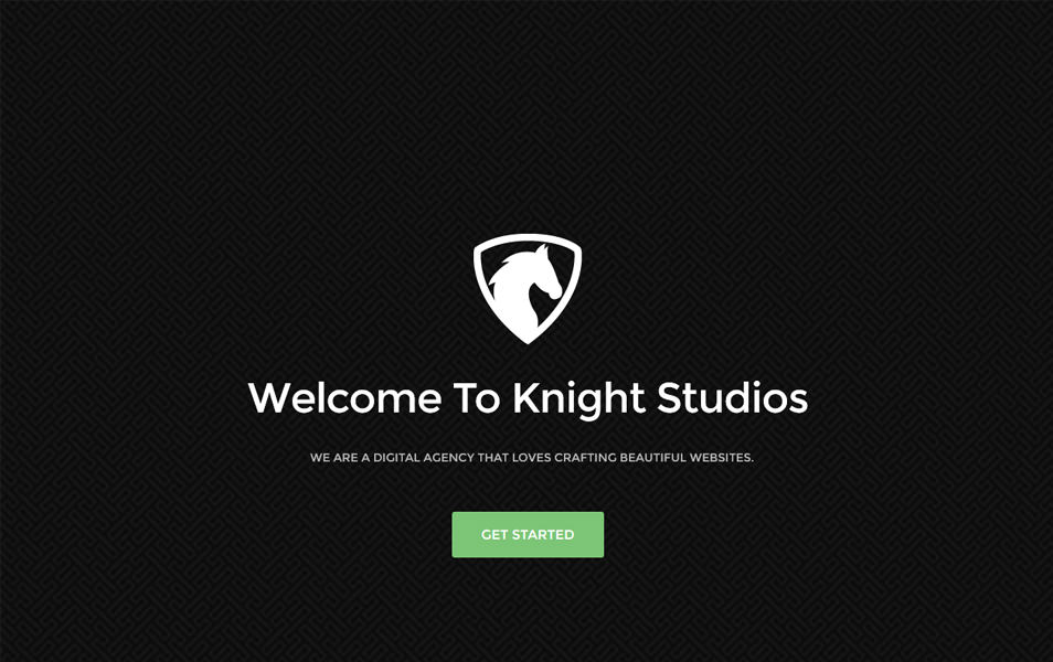KNIGHT One Page Bootstrap Template