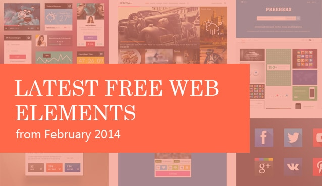 Latest Free Web Elements from February  2014