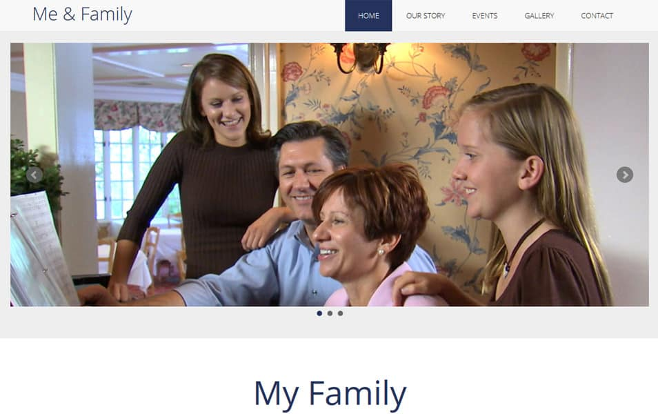 Me & Family MultiPurpose HTML Bootstrap Template
