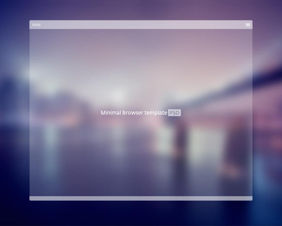 Minimal Browser Template PSD