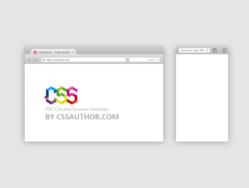 Mobile and Desktop Browser Template PSD