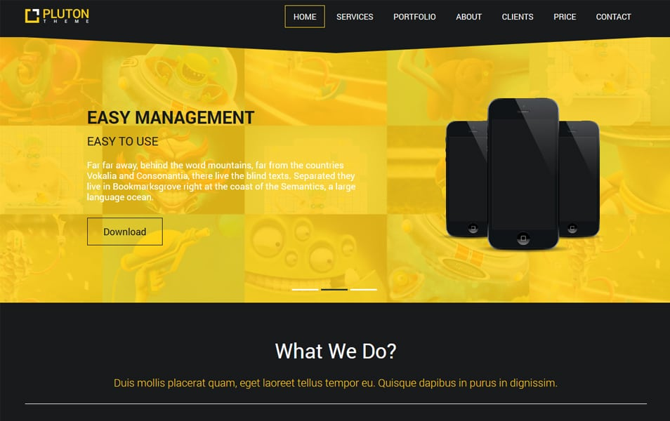 500 best free responsive html5 css3 website templates pluton free single page bootstrap html template maxwellsz