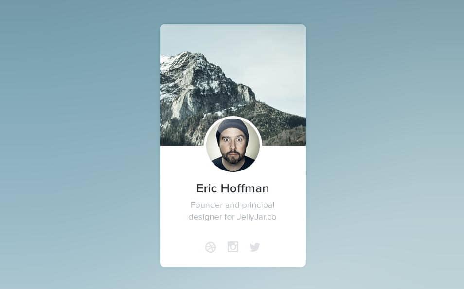 Profile widget PSD