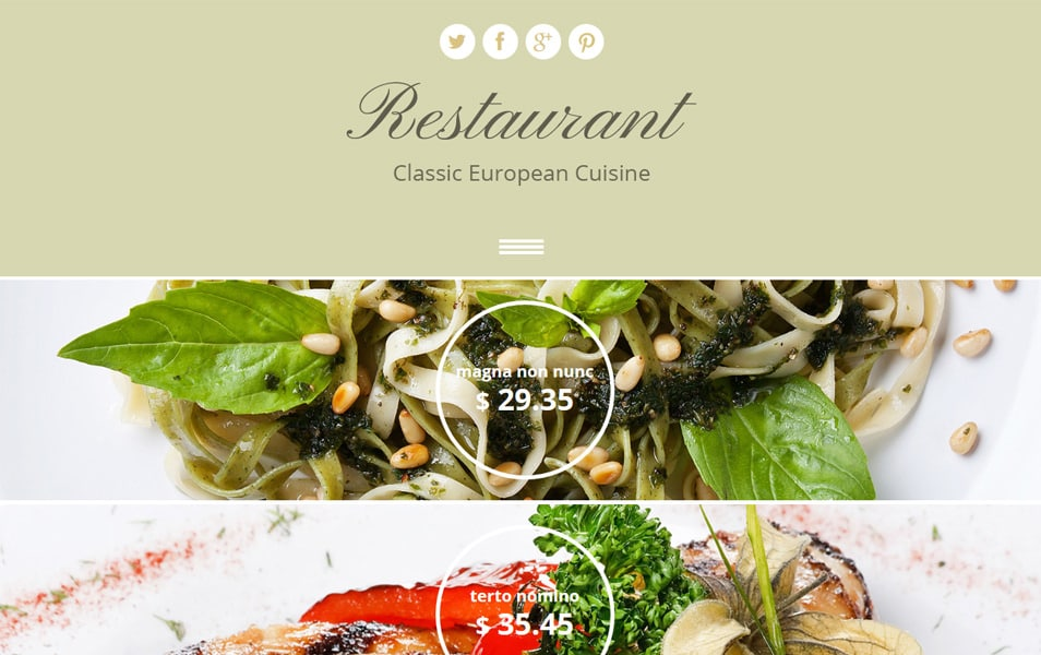 Restaurant Html5 Theme