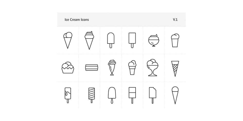 Vector Free Ice Cream Icons