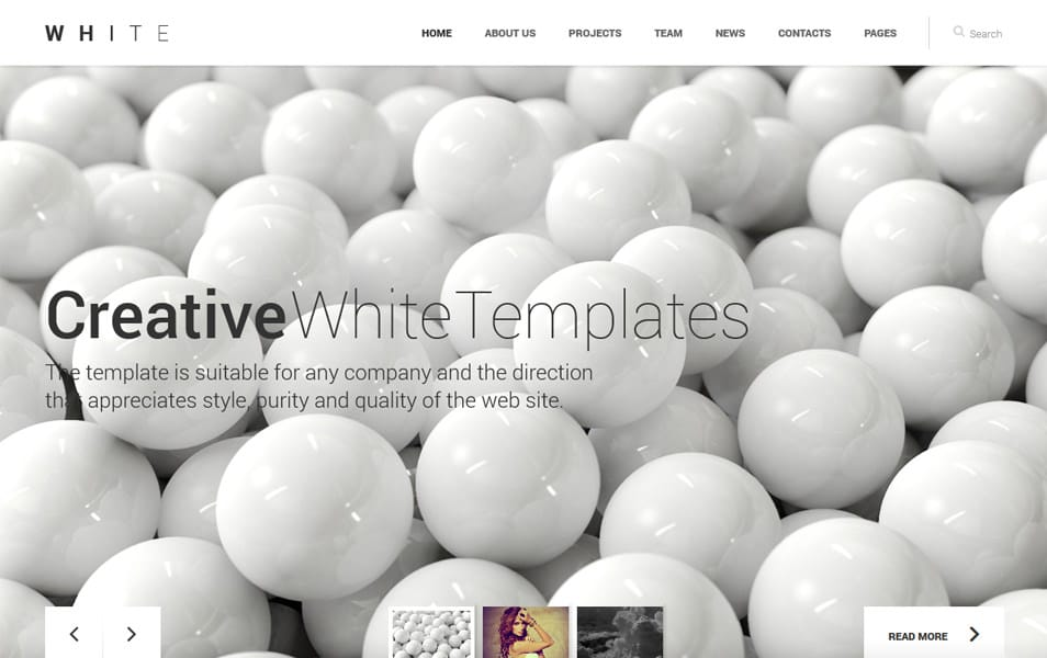 WHITE: One-Page HTML Theme
