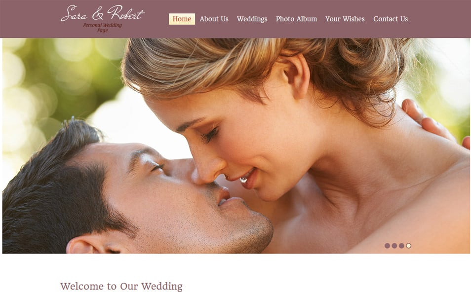 WeddingSite Html5 Theme