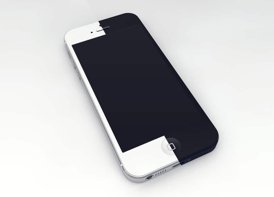 iPhone 5 3D Mockup Template