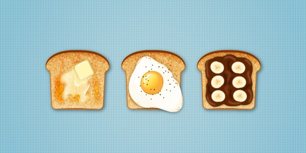A way to Generate Delicious Toast Icons in Adobe Illustrator