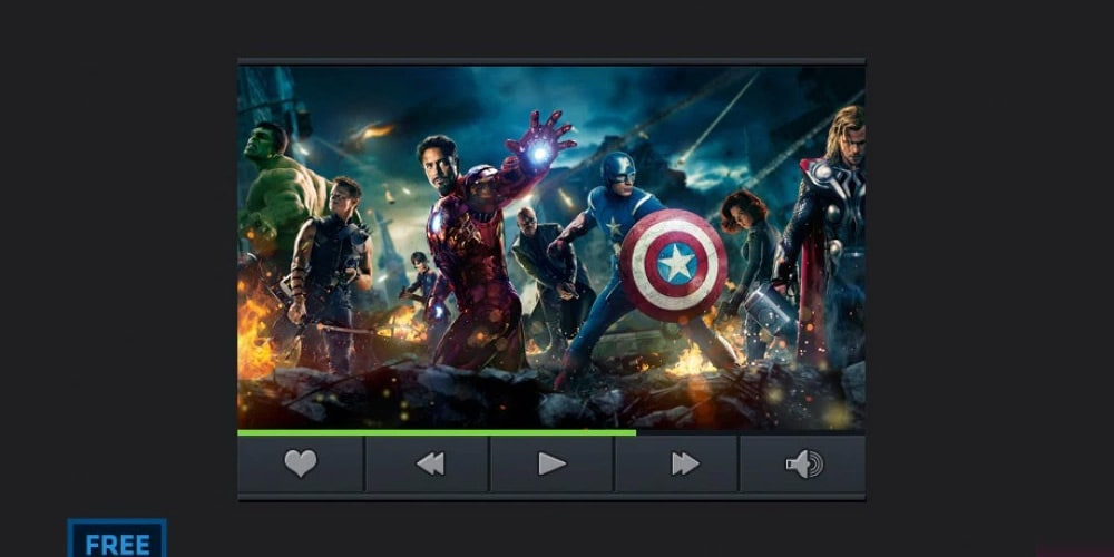 Another Video Player Free PSD