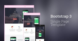 Bootstrap 3 Single Page Template › Free Html Template – Freebie No:141