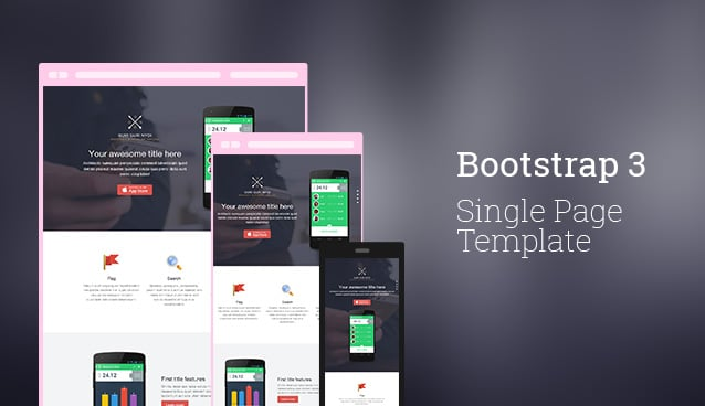 bootstrap 3 single page template free html template css author. Black Bedroom Furniture Sets. Home Design Ideas