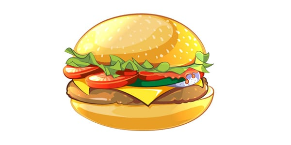 Cartoon Style Vector Burger