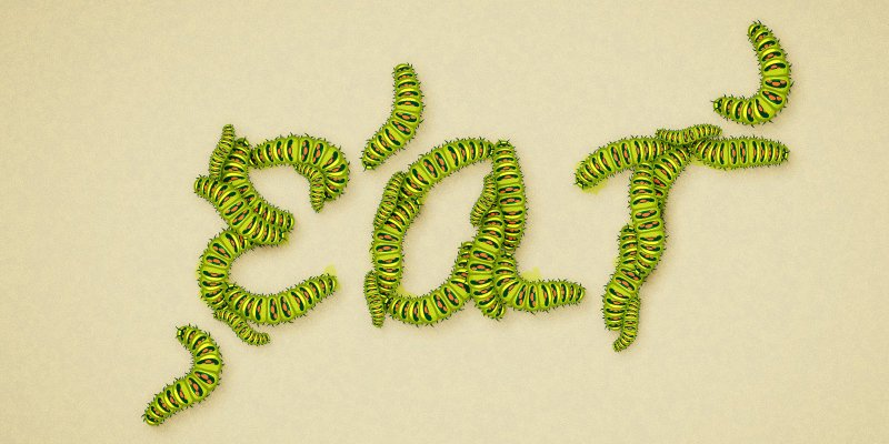 Caterpillar Text Effect