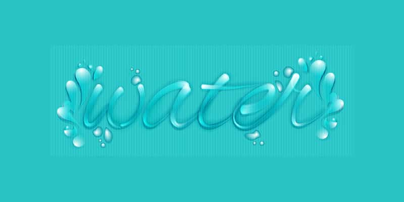 Create a Custom Water Font