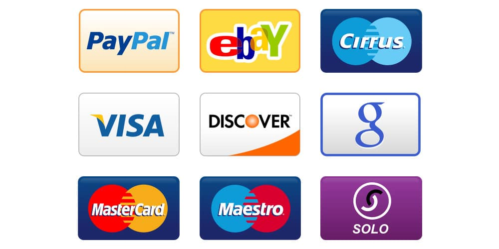 Credit Card and Payment Icons