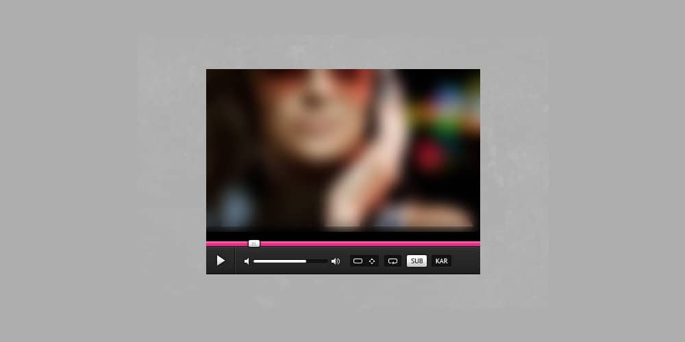 Dark and Pink Media Player Free PSD