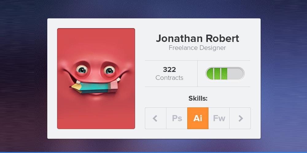 Designer Profile PSD