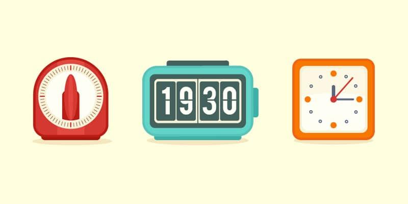 Flat Clock Icons