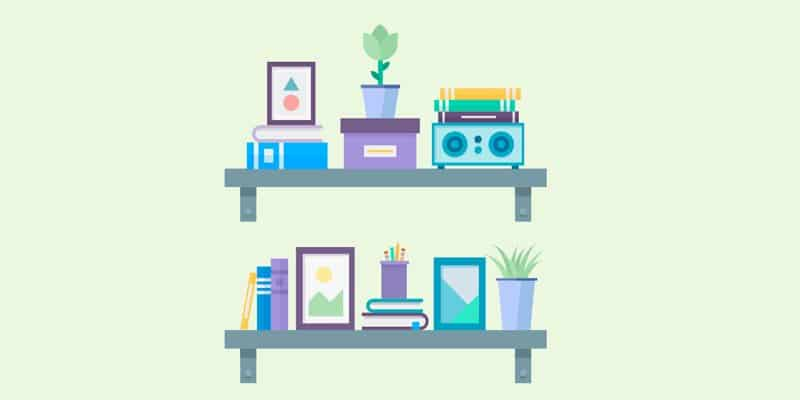 Flat Design Wall Shelves