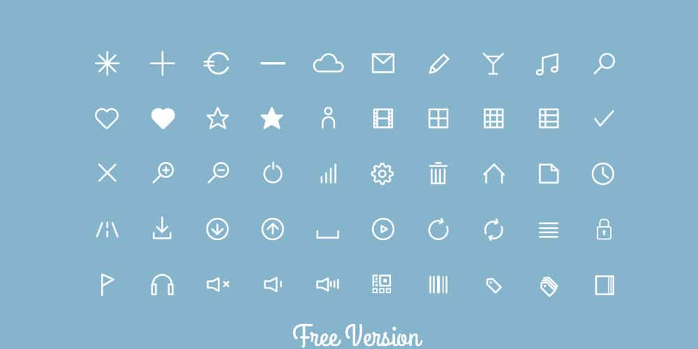 Flat Line Icons