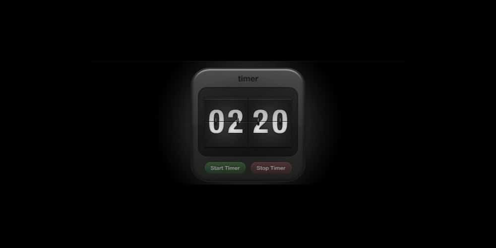 Flip Clock UI Design PSD