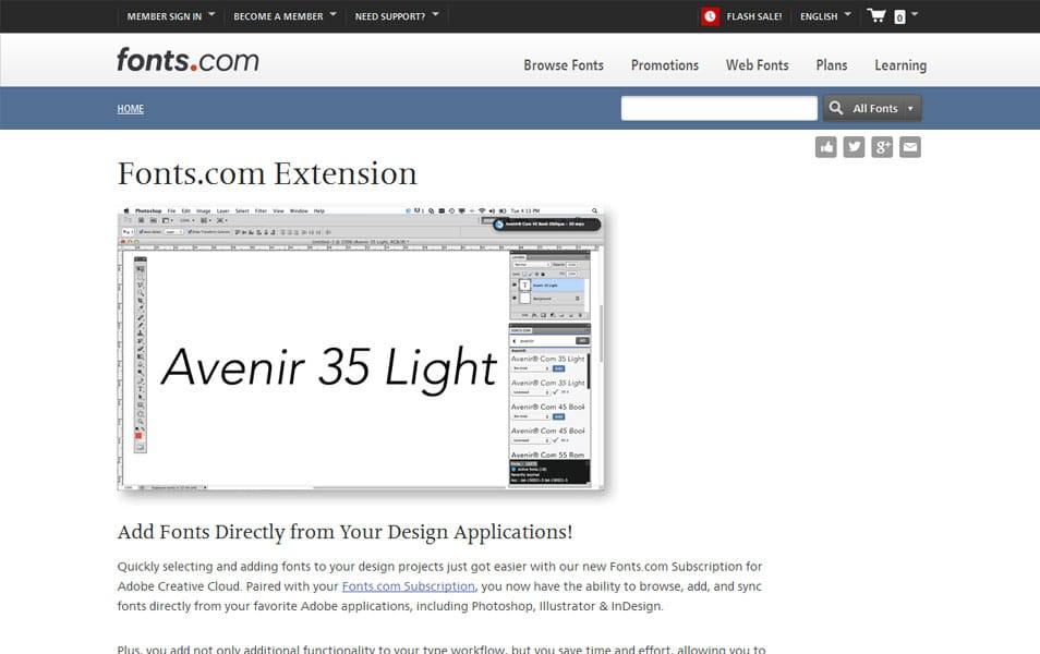 Fonts.com Extension