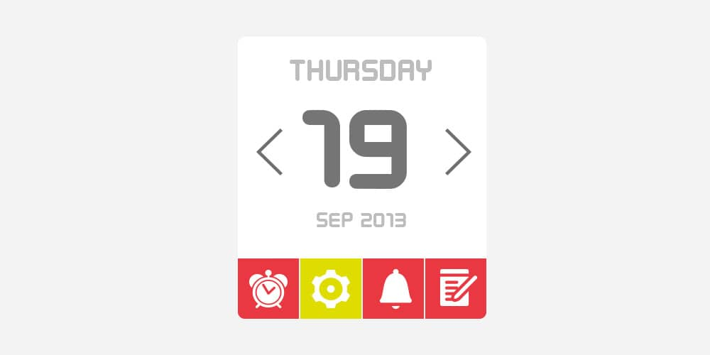 Free Calendar UI Kit