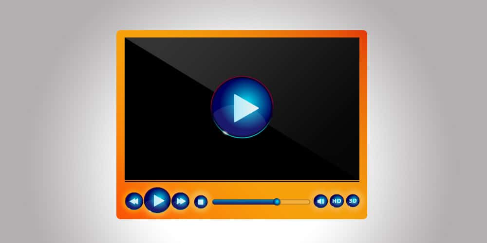 Free Classic Media Player PSD