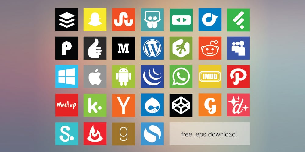 Free Flat Social Media Icon